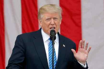 El presidente de EEUU, Donald Trump, en discurso del festivo de Memorial Day
