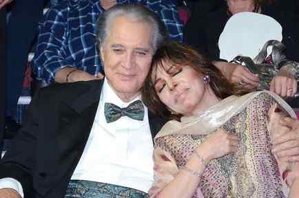 Verónica Castro y Rogelio Guerra