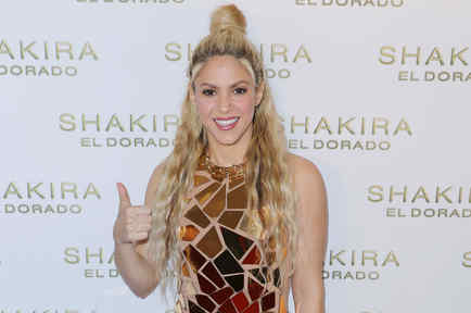 """Shakira en la presentación de su disco """"El Dorado"""""""