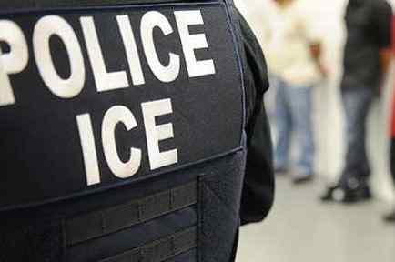Foto de archivo de agente de ICE