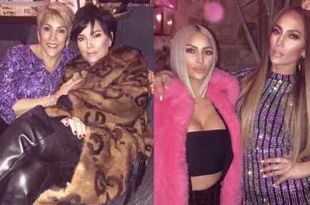 Jennifer Lopez and Kim Kardashian Reunite for Taco Wednesday