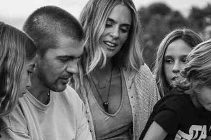 Juanes con toda su familia
