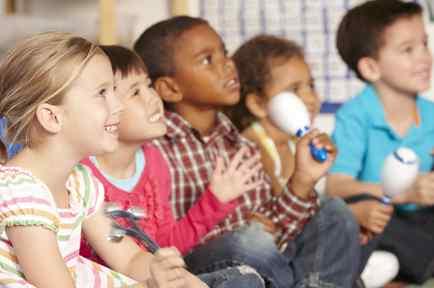 Niños en clase de música