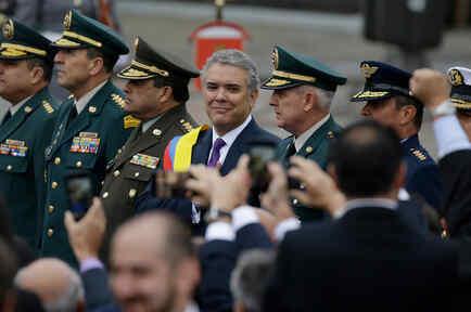 Iván Duque durante su toma de posesión como presidente de Colombia el martes 7 de agosto de 2018