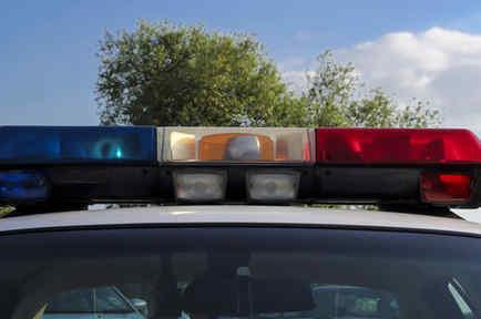 Sirenas de una patrulla policial en una imagen de archivo