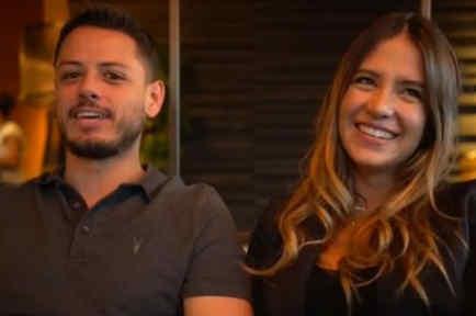 Chicharito con Sarah Kohan
