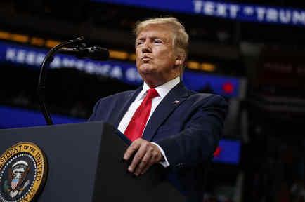 El mandatario estadounidense Donald Trump