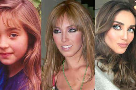 Collage de fotos de Anahí.
