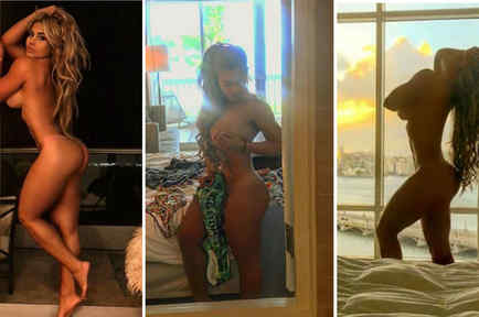 Collage Maripily haciendo topless