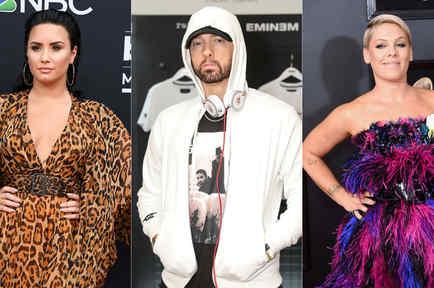 Demi Lovato, Eminem, Pink