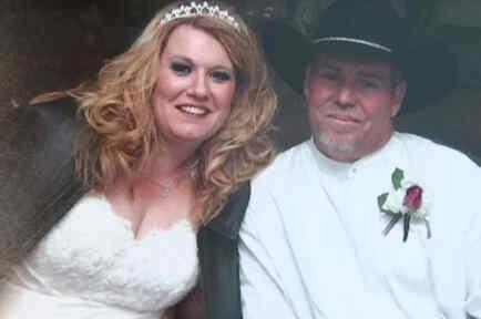 Lyndee y su esposo