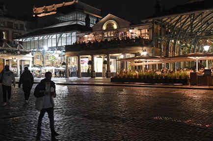 Vista de una calle en Londres este 31 de octubre de 2020.