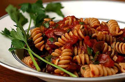 """Recetas de cocina: Espagueti """"alla puttanesca"""""""