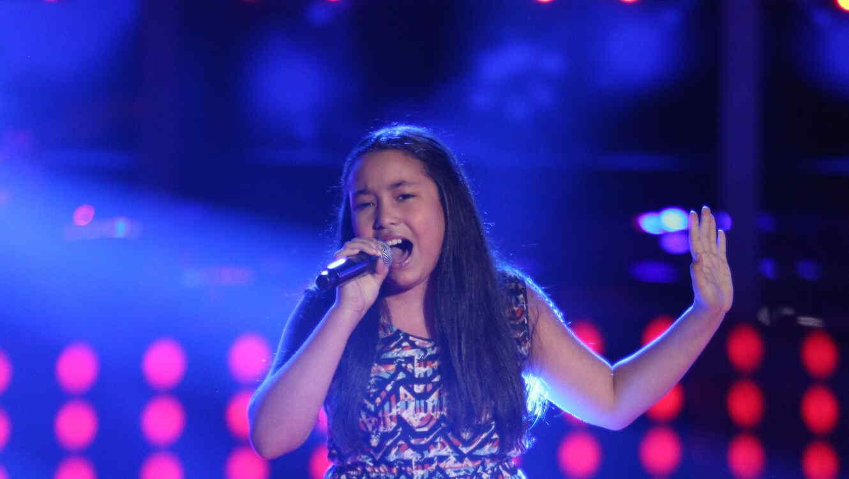 Merlyn Garcia canta en la voz kids
