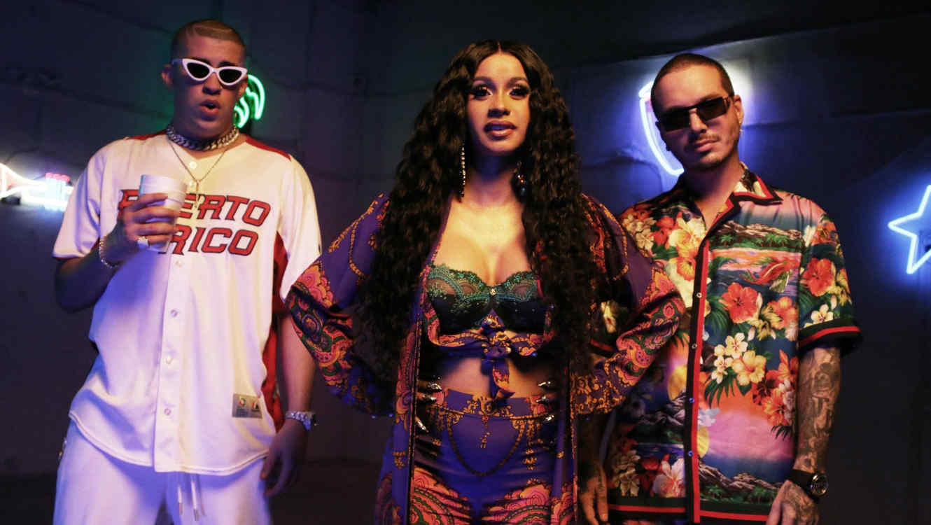 Cardi B estrenó video con Bad Bunny y J Balvin