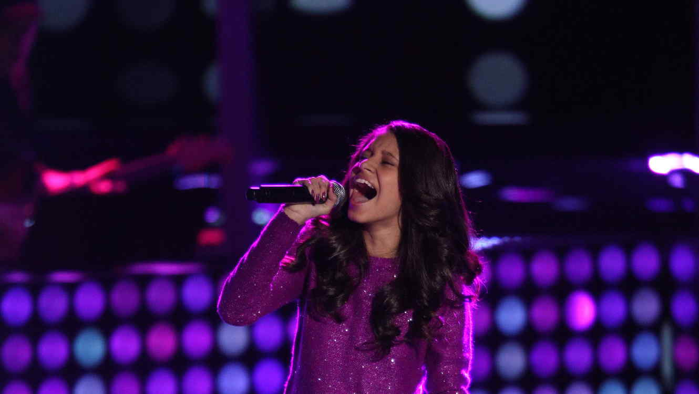 Emily cortes, cantando, audiciones a ciegas, la voz kids
