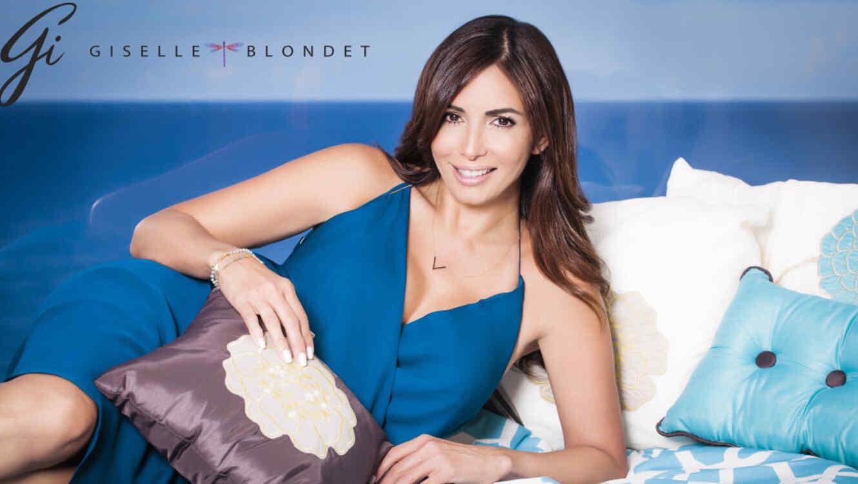 Giselle Blondet con su linea de joyas y ropa de cama