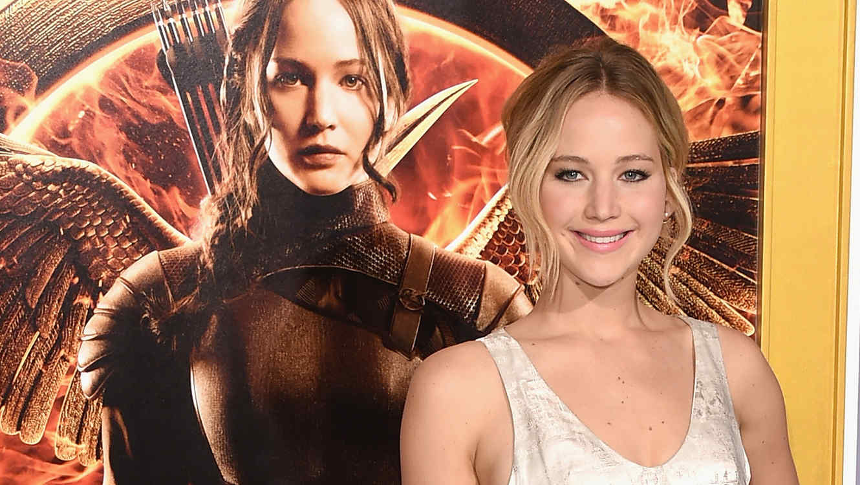 "Jennifer Lawrence en la Premiere de ""The Hunger Games: Mockingjay - Part 1"