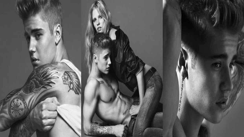 Justin Bieber en la campaña  publicitaria de Calvin Klein.