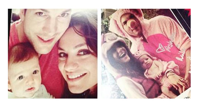 Filtran las fotos de la hija de Ashton Kutcher & Mila Kunis