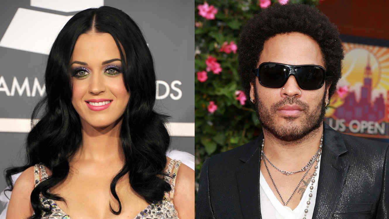 Katy Perry y Lenny Kravitz