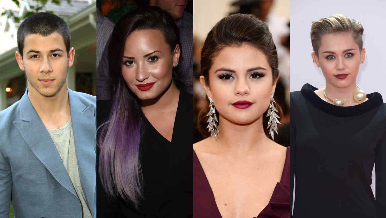 Nick Jonas, Demi Lovato, Selena Gomez & Miley Cyrus