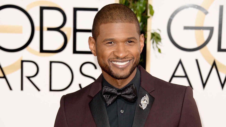 Usher en el 71st Annual Golden Globe Awards - Arrivals