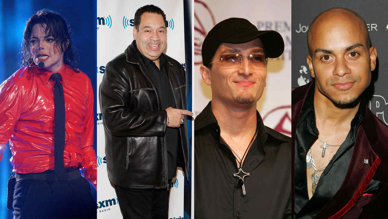 Michael Jackson, Tito Nieves, Obie Bermudez y Michael Stuart.