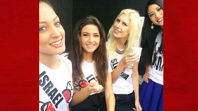 Polémica por un selfie de Miss Líbano y Miss Israel en Miss Universo