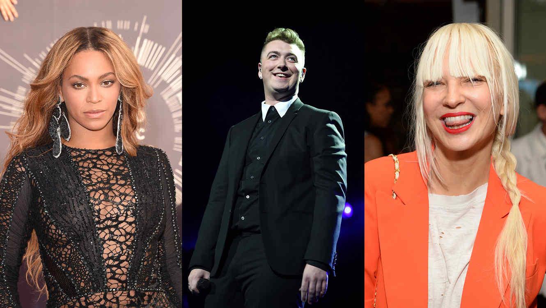 Beyonce, Sam Smith y Sia