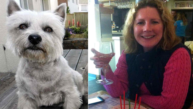 Catherine Pipon y su perro Molly