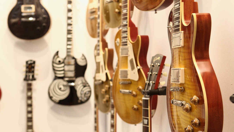 Una colección de guitarra de Gibson