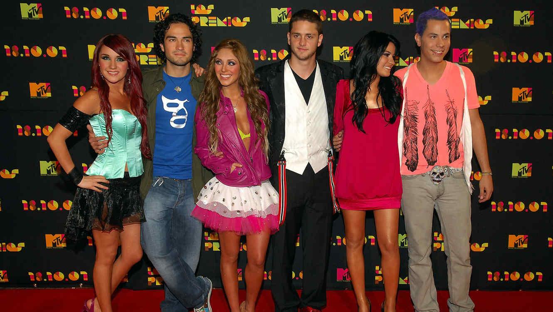 Dulce Maria, Alfonso Herrera, Anahi, Christopher Uckerman, Maite Peroni y Christian Chavez de RBD EN Los Premios MTV Latin America 2007