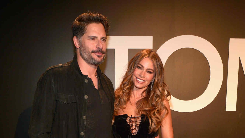 Sofía Vergara y Joe Manganiello en la presentación de la colección otoño/invierno de Tom Ford.