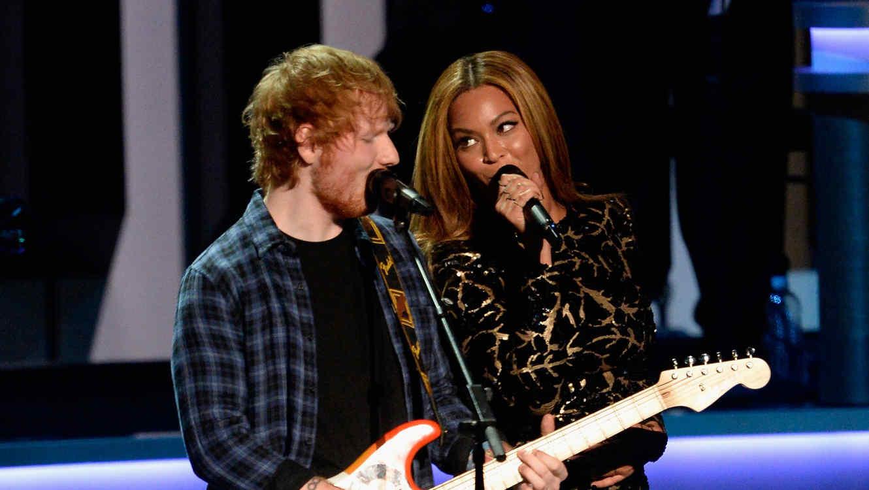 Ed Sheeran y Beyonce cantan juntos en el All Star GRAMMY Salute