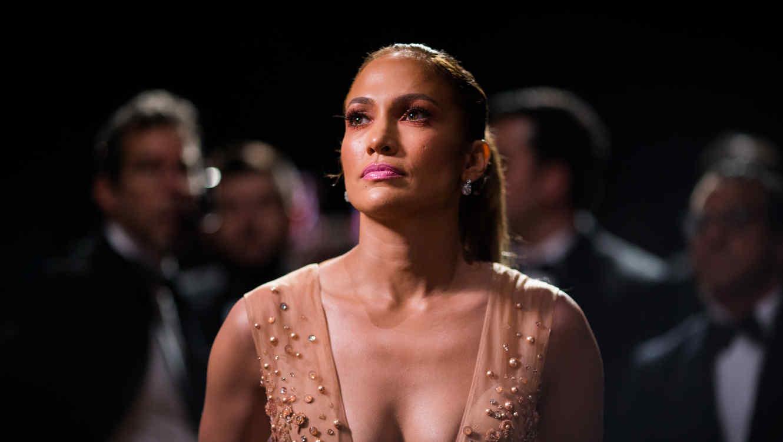 Jennifer Lopez en el backstage de los Premios Oscar 2015.