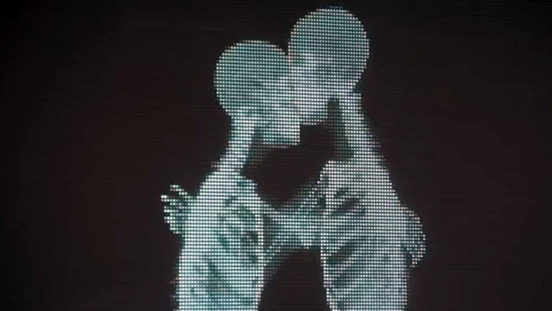 radiografia esqueletos besandose