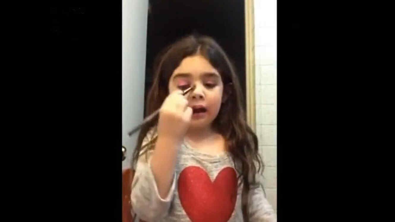 Tutorial de maquillaje de niña mexicana