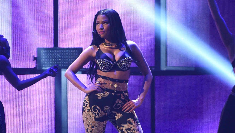 Nicki Minaj durante su presentación en el iHeart Radio Music Festival 2014 en Las Vegas