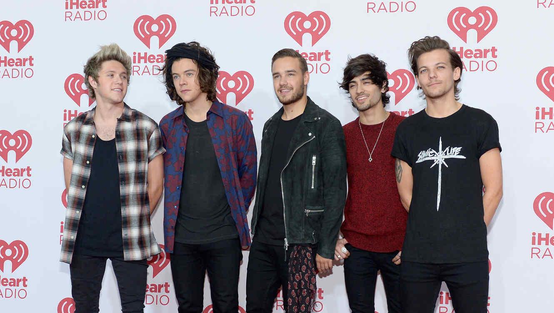 Niall Horan, Harry Styles, Liam Payne, Zayn Malik y Louis Tomlinson de One Direction en el iHeartRadio Music Festival 2014