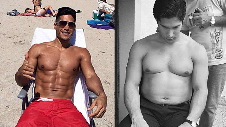 Chino de Chino y Nacho antes y después con cuadros y gordo