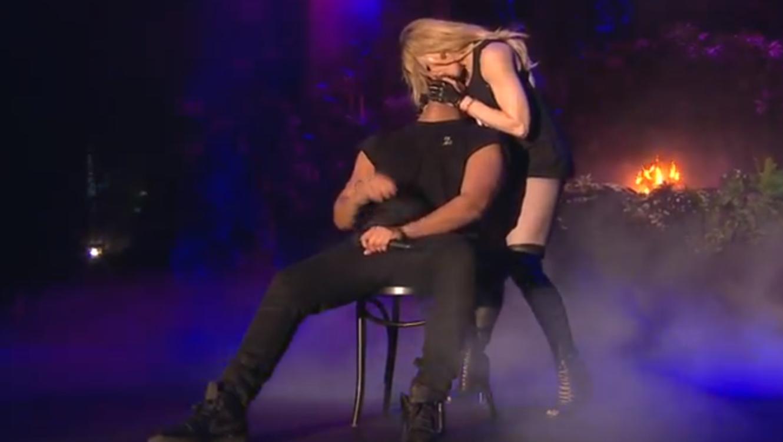 Madonna besando a Drake en el festival Coachella 2015