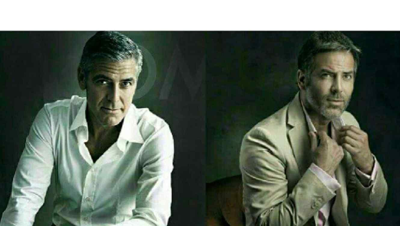 """Guillermo Zapata, el """"clon"""" del actor George Clooney."""
