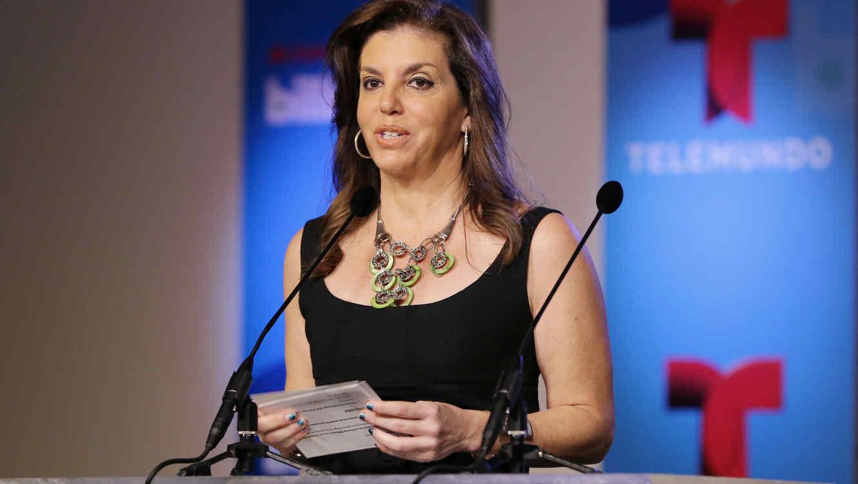 Leila Cobo, conferencia de prensa, Premios Billboard de la Musica Latina, 2014