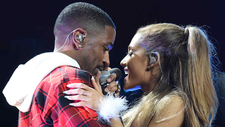 Big Sean y Ariana Grande en el Jingle Ball 2014 en Los Angeles