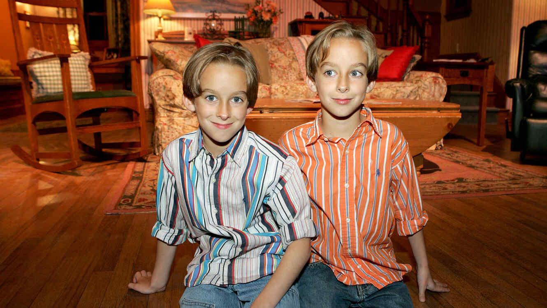 Sullivan Sweeten y Sawyer Sweeten en la fiesta de 'Everybody Loves Raymond' 2005
