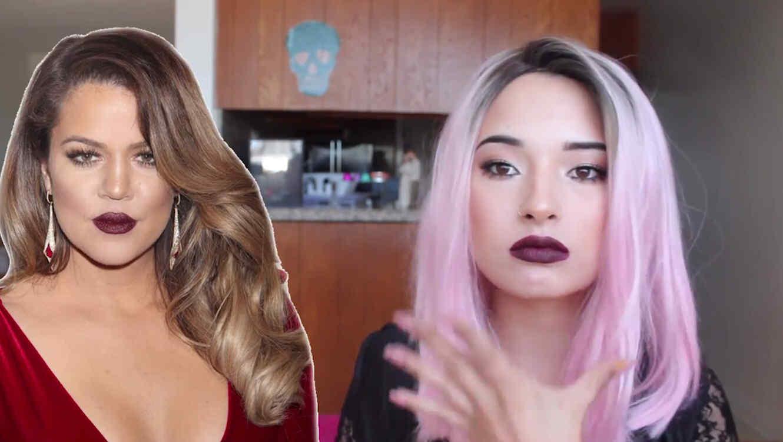 Laura Sánchez con maquillaje inspirado en Khloe Kardashian