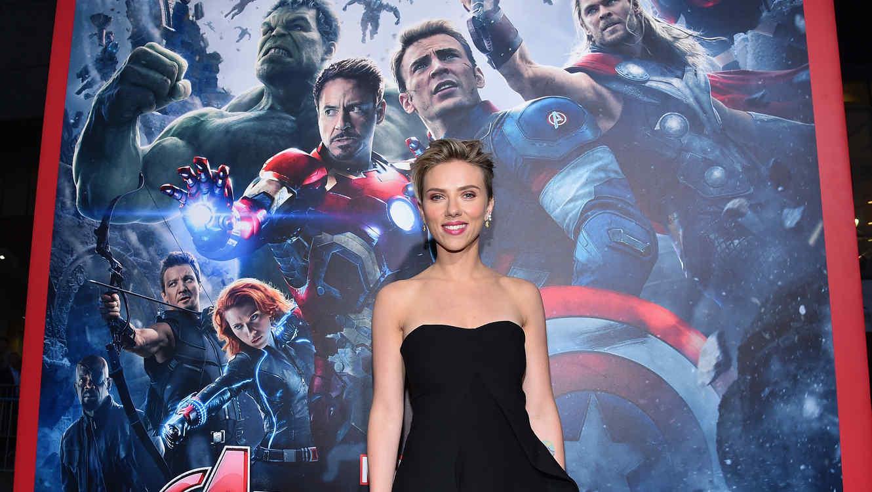"""Scarlett Johansson en la premiere de """"Avengers: Age Of Ultron""""."""