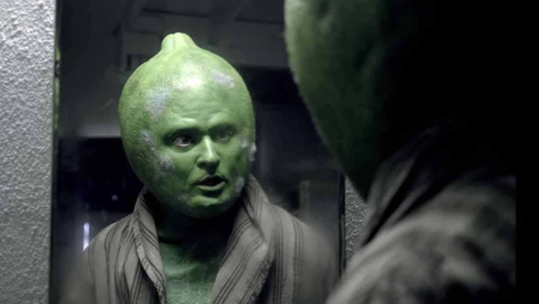 Justin Timberlake como el personaje de un limón en comercial