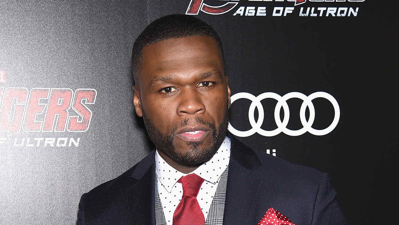 """50 Cent atiende al estreno de la película """"Avengers: Age of Ultron"""" en Nueva York."""